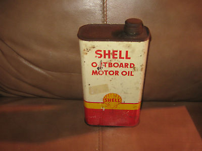 Shell Outboard Motor Oil 1 Quart Empty Can