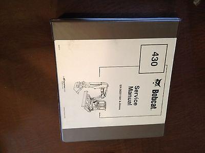 Bobcat Excavator 430 Series Service Manual Melroe Ir 5625001
