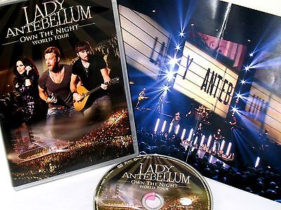Lady Antebellum  Own The Night 2012 World Tour Dvd New  Free Ship  Live Concert