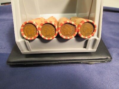 Unsearched� Wheat penny rolls with a Indian Head penny on the end