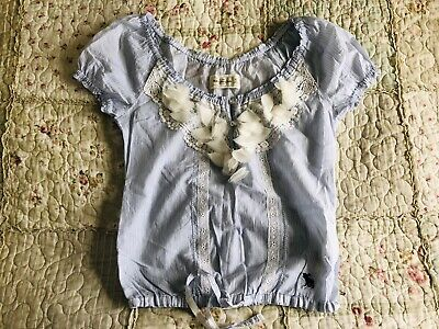 Abercrombie And Fitch Womens Blue & White Top XS Brand New Without Tags