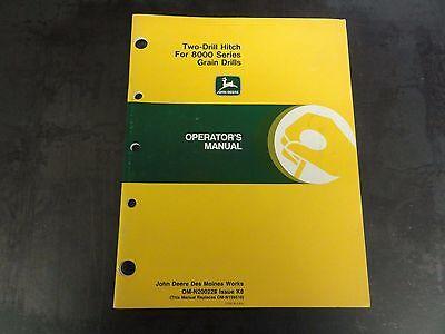 John Deere Two-drill Hitch For 8000 Series Grain Drills Operators Manual