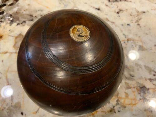 Vintage English Lawn Bowling Boule Ball