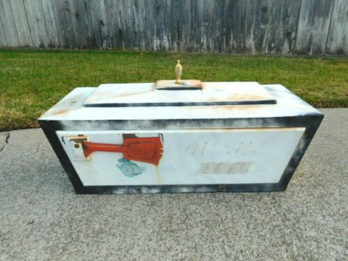 Vintage Large Galvanized Mailbox Heavy Duty Leigh Products Inc. 1988