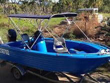 Polycraft 4.8m Brumby rear console 75 HP Mercury 2 stroke Hay Point Mackay Surrounds Preview