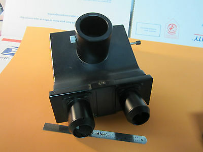 Optical Microscope Part Leitz Weztlar Germany Trinocular Head Optics Bin13