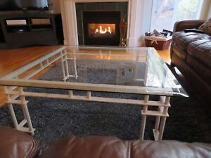 TABLES/Metal & Bevelled Glass/3 for $550.
