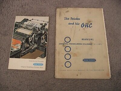 Hints For The Pressman Heidelberg Cylinder Press Printer And His Ohc Manuals