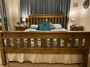 4 piece Timber King Size bedroom suite