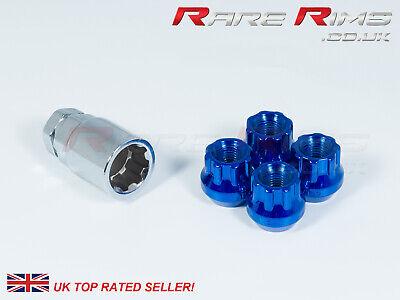 20 x Tuner Wheel nuts BLUE 12x1.25 fits Nissan Serena Navara