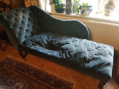 Chaise lounge antique beautiful shape for reupholstering recovering