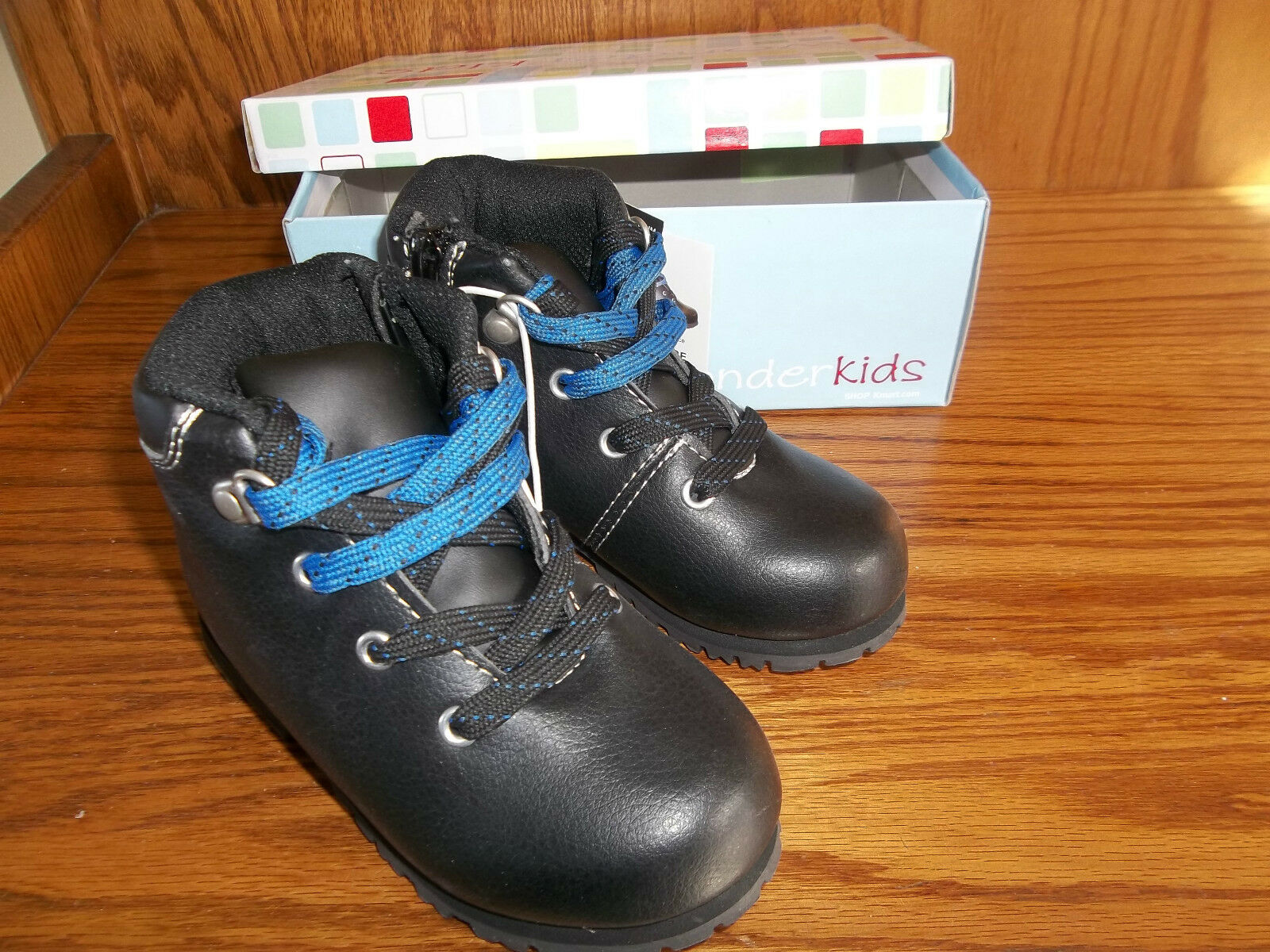 NEW WONDERKIDS BLACK BOOTS BABY/ TODDLER SIZE 10 MSP $19.99
