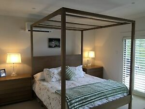 Ralph Lauren Four Poster Kind Bed with Mattress and  Bedside Drawers Mosman Mosman Area Preview