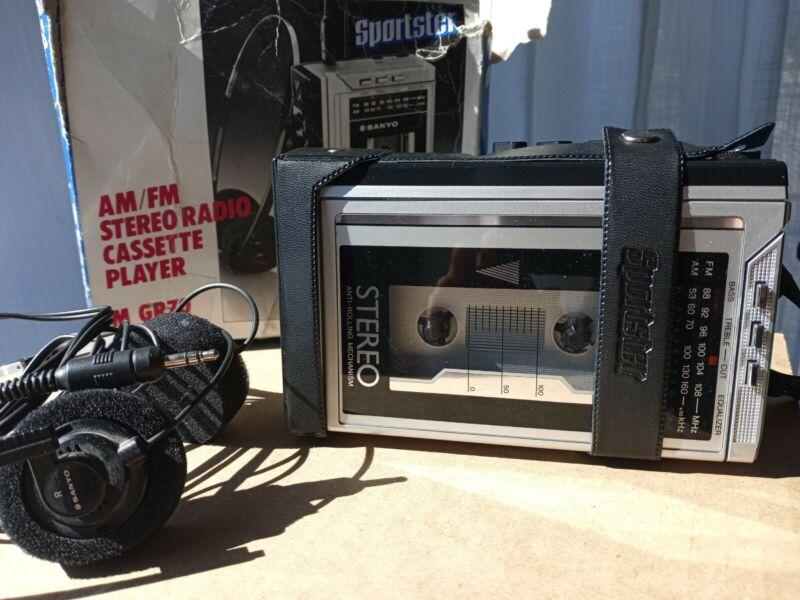Sanyo Sportster MGR70 cassette Tape Walkman WORKS! Japan