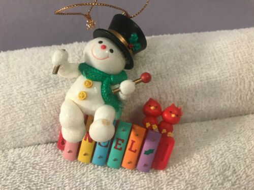 Christmas ornament Lustre Fame Snowman playing xylophone NOEL CH5012