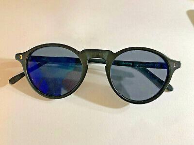 Illesteva  Handmade In Italy matte Black Capri Sunglass Frame 47/23 145m (C)
