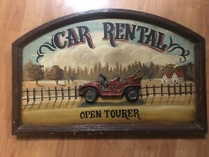 Vintage 3D wooden advertising signs