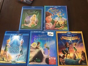 Disney Fairies/ Tinkerbell Bluray/ DVDs