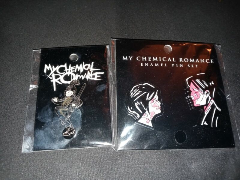 MY CHEMICAL ROMANCE THREE CHEERS FOR SWEET REVENGE + Black Parade enamel pin!!