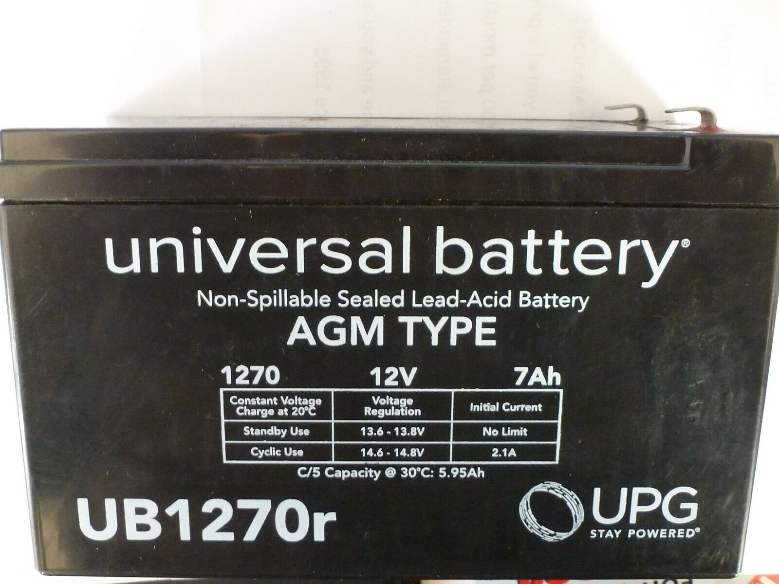 NEW UB1270r Universal replacement battery UPG  12v 7ah AGM