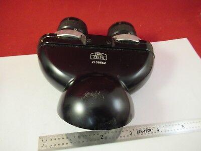 Carl Zeiss Germany Optical Binocular Head Microscope Part Optics As Is 92-a-02