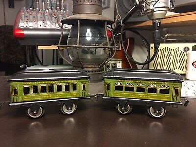 Prewar 1920s EARLY IVES Railway Lines O Scale Passenger Parlor Chair Car #51 #52