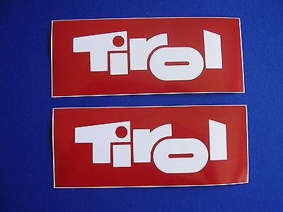 Aufkleber Tirol Österreich Bundesland Tirol 2 Stück 15 x 6 cm