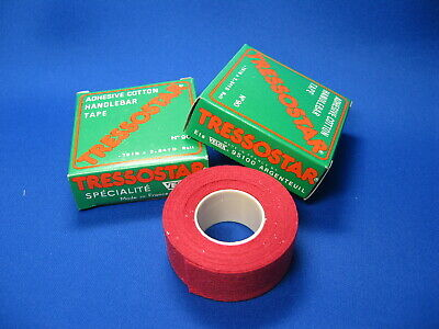 bicycle padded handlebar tape red//white spots chrome bar plugs NEW old stock