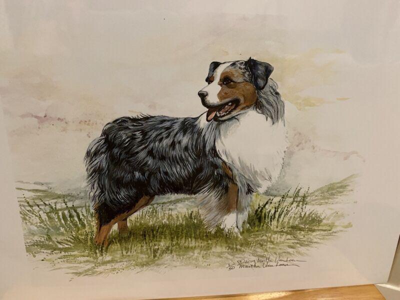 Austrailian Shepherd Ltd Ed Print 11x14 By Van Loan