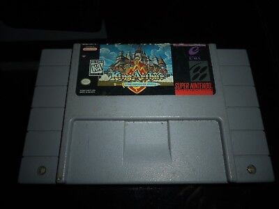 KING ARTHUR AND THE KNIGHTS OF JUSTICE FOR SUPER NINTENDO SNES **CART