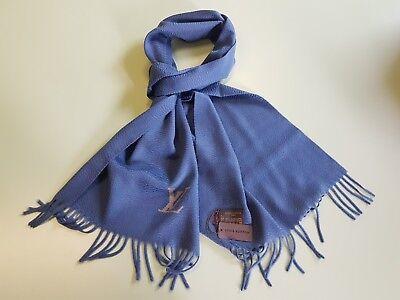 5647e48b554e Authentic LOUIS VUITTON Cashmere scarf Jhelam Stole Blue NEW R.P. 650£ Very  Rare
