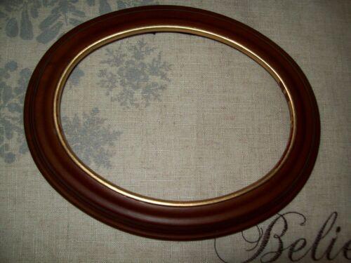 "VAN HYGAN & SMYTHE Wood Gold Trim COLLECTOR OVAL 9"" PLATE FRAME CS95"
