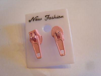 Ohrring mit kleinerem Reißverschluss komplett Rosa Hingucker süssss - Rosa Reißverschluss Ohrringe