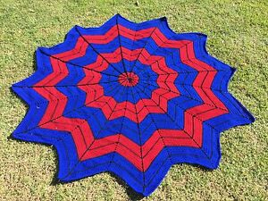 Crochet Spider-Man Single Bed Blanket Capalaba Brisbane South East Preview