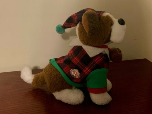 Elf On the Shelf Elf Pets St. Barnard Costume Outfit Plaid Suit and Hat EUC