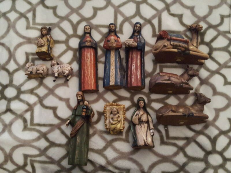 Complete Set Southern Living at Home Santos Nativity Holy Family & Wisemen 12 pc