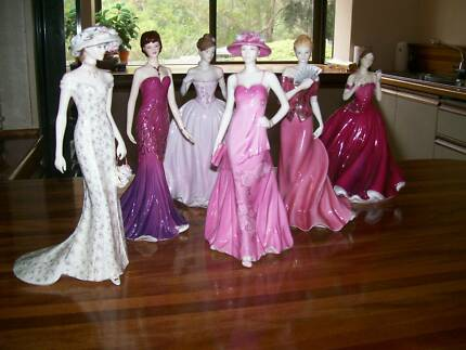 Royal Worcester and Coalport figurines with certificates