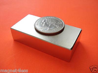 24 Strong Grade N42 2x1x12 Inch Rare Earth Neodymium Block Magnet