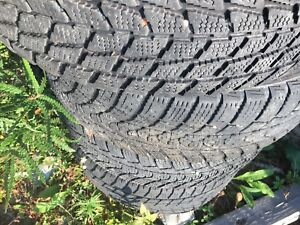 195/60-14 winter tires on 4 bolt steelie