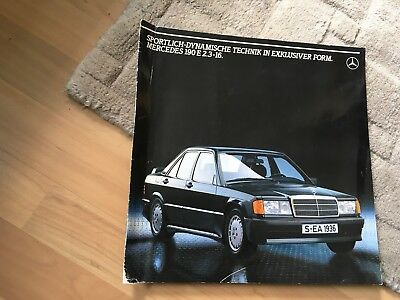 MERCEDES BENZ. 190E 2.3-16 (COSWORTH)  LARGE FORMAT BROCHURE  1983 GERMAN TEXT