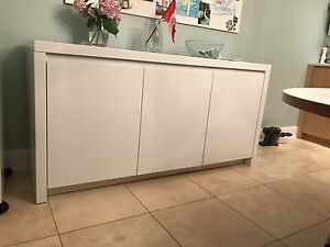 Custom Gloss White Sideboard
