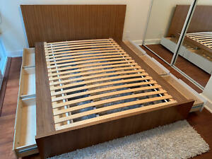 Queen size storage bed and matching dresser