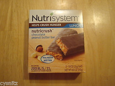 Nutrisystem Nutricrush Double Chocolate Peanut Butter Meal Replacement Bars