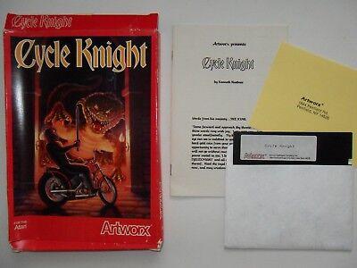 Atari Computer Game 400/800/XL - Cycle Knight, Original - Disk, Box and Manual