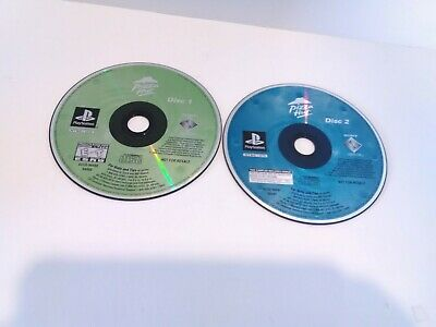 pizza Hut Original Playstation (Ps1} Pizza Powered Demo Disc 1 & 2 Tested
