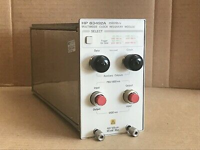 Hp 83492a Multimode Clock Recovery Plug-in Module - Agilent Keysight