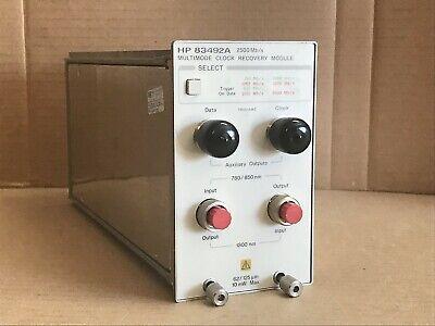 Hp 83492a Multimode Clock Recovery Plug-in Module - Agilent Keysight