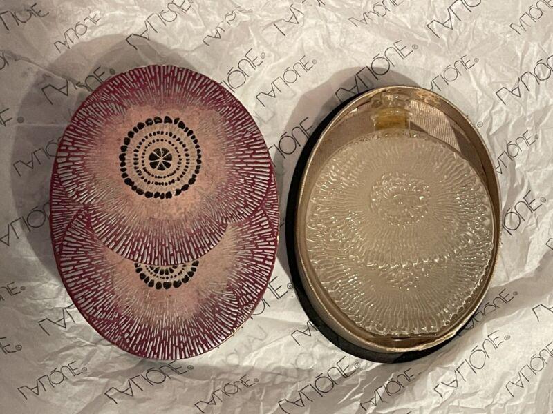 Antique 1920's R.Lalique perfume bottle Rogers & Gallet Pavots d'Argent in box