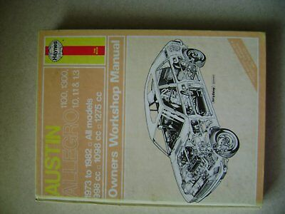 Haynes Manual Austin Allegro 1973 - 1982