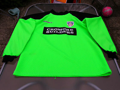 COLERAINE GOALKEEPER PLAYERS MATCHWORN SHIRT 2000 XL MENS NUMBER 19 image